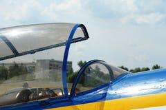 Cabina de un pequeño avión de los deportes Fotos de archivo libres de regalías