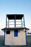 Cabina del bagnino in costa spagnola Fotografie Stock
