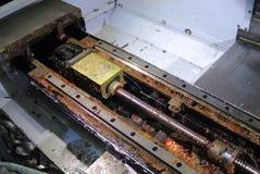 Cabina del centro di macinazione smontato rotto Immagine Stock