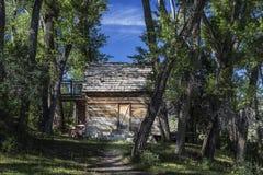 Cabina del colono en el valle Utah de Joes Imagen de archivo