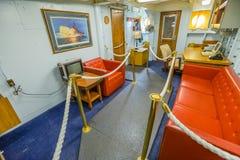 Cabina del comandante del buque de guerra Fotografía de archivo