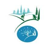 Cabina del emblema en el bosque Imagenes de archivo