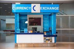 Cabina del intercambio de moneda Fotografía de archivo libre de regalías