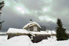 Cabina del invierno Imagen de archivo libre de regalías