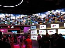 Cabina del LG en la convención de 2010 CES Imagen de archivo libre de regalías