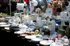 Cabina del mercato di pulce Fotografia Stock