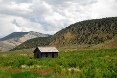 Cabina del Montana fotografia stock libera da diritti