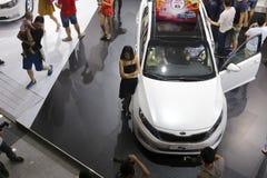 Cabina del motor de Hyundai del coreano Foto de archivo