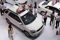 Cabina del motor de Hyundai del coreano Imagen de archivo libre de regalías