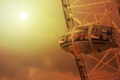 Cabina del ojo de Londres fotografía de archivo