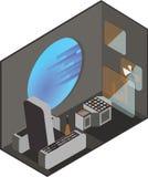 Cabina del piloto de la nave espacial libre illustration