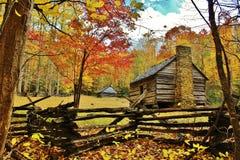 Cabina del pioniere del Tennessee Fotografia Stock