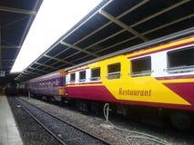 Cabina del tren del restaurante Foto de archivo