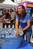 Cabina dell'acqua di Zico di festival del cioccolato di Ghirardelli Fotografia Stock