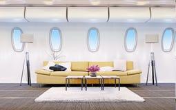 Cabina dell'aeroplano Fotografia Stock