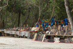 Cabina dell'artigianato a Chichen Itza Immagini Stock Libere da Diritti
