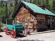 Cabina della montagna Immagini Stock