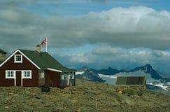 Cabina della montagna a Fannaraken fotografia stock libera da diritti