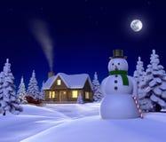 Cabina della neve Fotografia Stock