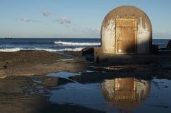 Cabina delle pompe pubblica dei bagni; Newcastle, Australia Fotografie Stock Libere da Diritti