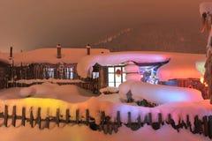 Cabina dello Snowy Immagine Stock