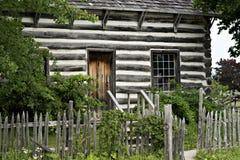 Cabina di ceppo - parco di eredità del paese, Milton Ontario Fotografia Stock
