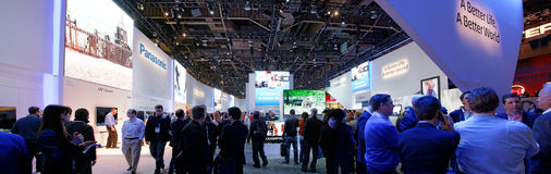 Cabina di convenzione di Panasonic a CES Fotografie Stock