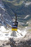 Cabina di funivia alla montagna di Dachstein a Ramsau fotografie stock