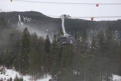 Cabina di funivia allo Zugspitze, Garmisch-Partenkirchen immagine stock libera da diritti
