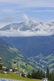 Cabina di funivia alpina Fotografie Stock Libere da Diritti