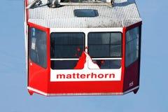 Cabina di funivia del Matterhorn Immagine Stock Libera da Diritti