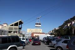 Cabina di funivia della Gibilterra Immagine Stock