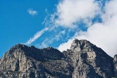 Cabina di funivia della montagna della Tabella Fotografia Stock Libera da Diritti