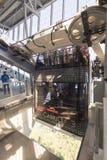 Cabina di funivia della piattaforma del doppio di Cabrio, Stanserhorn Fotografie Stock