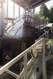 Cabina di funivia della piattaforma del doppio di Cabrio, Stanserhorn Fotografia Stock