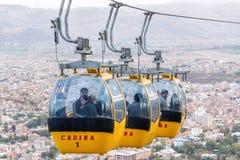 Cabina di funivia di Cochabamba Fotografie Stock