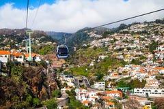 Cabina di funivia di Funchal, Madera Immagini Stock