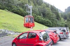 Cabina di funivia di Gadmen, Svizzera Immagini Stock Libere da Diritti