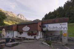 Cabina di funivia di Gadmen, Svizzera Immagini Stock