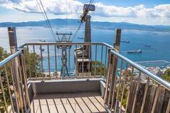 Cabina di funivia di Gibilterra Fotografia Stock