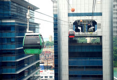 Cabina di funivia di Singapore Immagini Stock