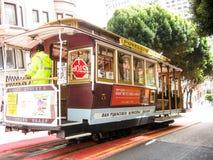 Cabina di funivia famosa di San Francisco fotografia stock libera da diritti