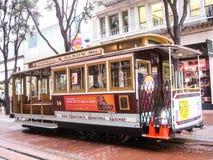 Cabina di funivia famosa di San Francisco fotografie stock