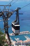 Cabina di funivia, Gibilterra Fotografie Stock Libere da Diritti