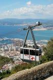 Cabina di funivia, Gibilterra Immagini Stock