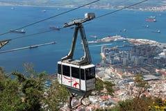 Cabina di funivia, Gibilterra Fotografia Stock