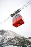 Cabina di funivia, montagne della Slovacchia Fotografia Stock Libera da Diritti