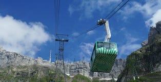 Cabina di funivia nel Alpstein-massiccio Fotografia Stock