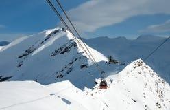Cabina di funivia nelle alpi svizzere, Zermatt Fotografia Stock