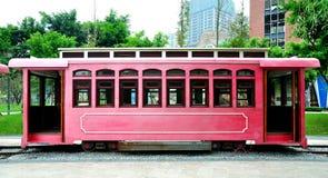 Cabina di funivia rossa Fotografia Stock